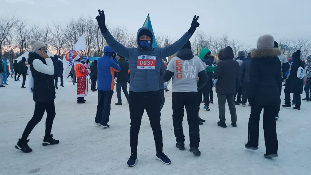Beyond the limits of possibility: Samruk-Energo employees took part in Astana Winter Marathon